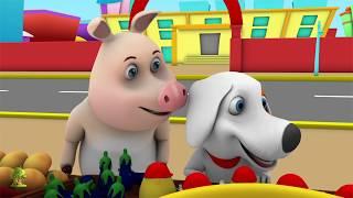 One Potato, Two Potatoes | Kindergarten Nursery Rhymes & Songs for Kids | Little Treehouse S03E21