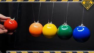 Newton's Cradle with Pool Balls