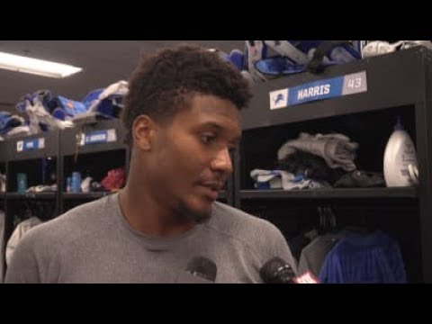 Will Harris on his acclimation to Lions' training camp