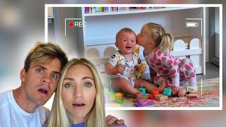 Caught Posie Doing This To Her Baby Brother On Hidden Camera...