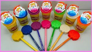 Learn Colors and Numbers 7 Color Play Doh Doraemons l kinder joy surprise Toys