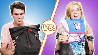 Men and Women Compare What's In Their Bags