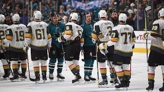 Sharks and Golden Knights exchange handshakes after insane Game 7