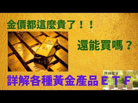詳細介紹各種黃金ETF, 是時候買進黃金了嗎?Time to buy GOLD ?