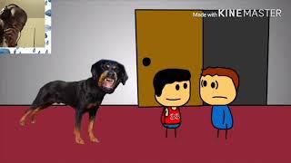 Brewstew - Rottweiler Next Door Reaction!