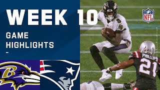 Ravens vs. Patriots Week 10 Highlights | NFL 2020