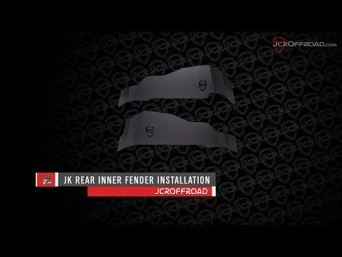 JcrOffroad - JK Rear Inner Fender Installation