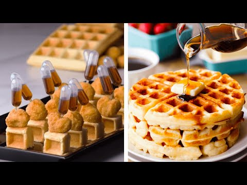 Quick and Easy Bite-Sized Foods and Desserts!   Tiny Chicken & Waffles by So Yummy