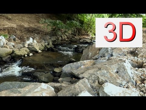 3D VIDEO: One Hour Waterfall Relaxation #3