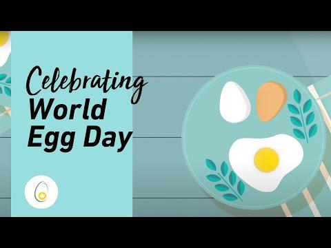 """观看我们向加拿大鸡蛋和蛋农致敬的视频,加入世界鸡蛋日庆祝活动,并使用""""世界鸡蛋日""""标签在社交媒体上分享您对鸡蛋的喜爱。"""