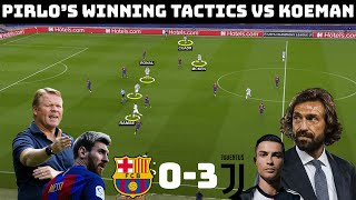 Tactical Analysis: Barcelona 0 - 3 Juventus | How Pirlo Set Up Juventus For Success |