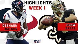 Deshaun Watson vs. Drew Brees CLUTCH DUEL! | NFL 2019 Highlights