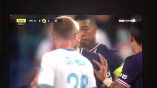 Paris Saint Germain vs Olympique Marseille derby explosion in injury time 5 red cards