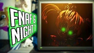 FNAF 6 Night 1 🌟NEW ANIMATRONICS & NEW LORE!🌟 - Five Nights at Freddy's 6 Gameplay 1