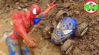 Người nhện và những chiếc xe ô tô được tìm thấy - đồ chơi trẻ em B1177P Kid Studio