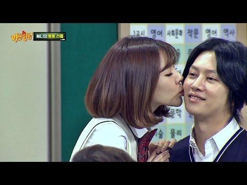 써니(Sunny), 김희철(kim hee chul)에 볼 뽀뽀 쪽~♥ 은근 잘.. 어울리는데...? 아는 형님(Knowing bros) 25회