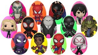 Spiderman Into the Spider Verse Play Doh Surprise Eggs with Miles Morales & Spider Gwen