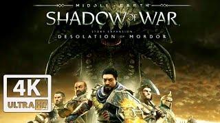 SHADOW OF WAR: Desolation of Mordor DLC All Cutscenes (Game Movie) 4K 60FPS