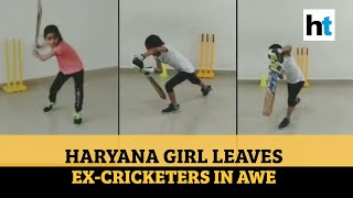 7-yr-old girl emulates Dhoni's helicopter shot, impresses ..