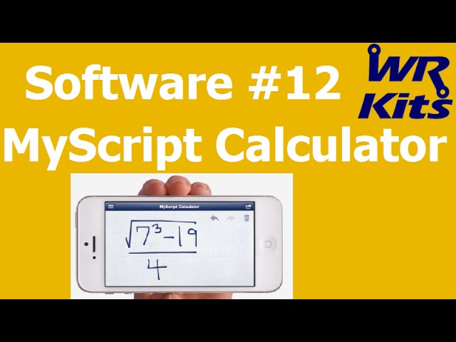 MYSCRIPT CALCULATOR (iOS ou Android) | Software #12