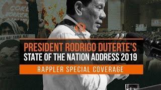 LIVE: President Rodrigo Duterte's 2019 State of the Nation Address
