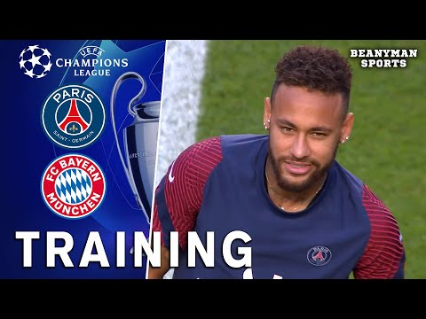 PSG Players Train Ahead Of Champions League Final Against Bayern Munich
