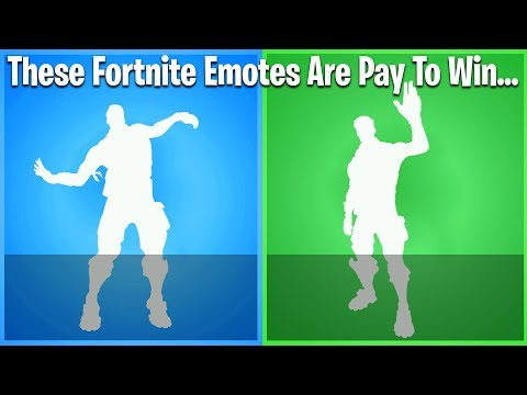 10 TIMES FORTNITE WAS PAY TO WIN! (pay to win emotes)