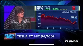 Tesla Stock will reach $4000, said Ark Investment