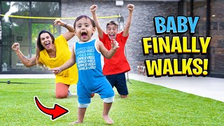 Baby Milan WALKS For The FIRST TIME!! (EMOTIONAL)   The Royalty Family