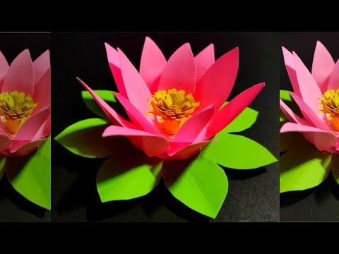 New Origmi Lotus Flower II How to Make Paper Lotus Flower II DIY- Paper Flowers