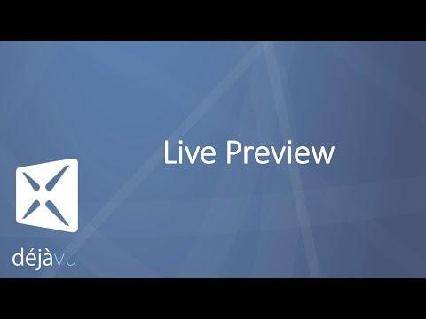 Live Preview with Déjà Vu X3