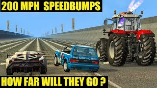 BeamNG Drive Crashes - HOW FAR WILL THEY GO? #14 (Satisfying Car Crashes)