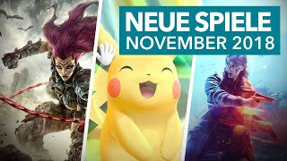 30 neue Konsolenspiele im November 2018 - Release-Vorschau für PS4, Xbox One & Nintendo Switch