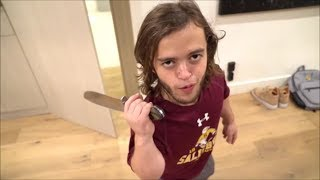 Logan Paul making fun of Dwarf Mamba's height for 5 minutes straight