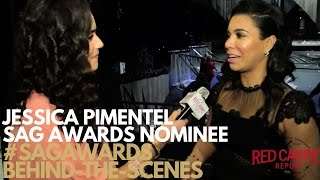 Jessica Pimentel interviewed at 23rd Annual SAG Awards® Behind the Scenes