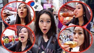 KOREAN STREET FOOD IN SEOUL!!
