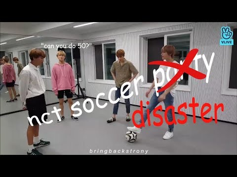 never let nct play soccer again