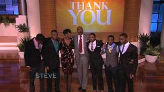 Steve Harvey's Emotional Thank You!