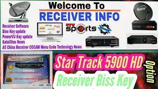 startrack HD srt 5500 plus biss key Option Videos
