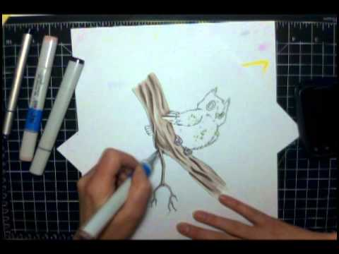 Copics - Owl
