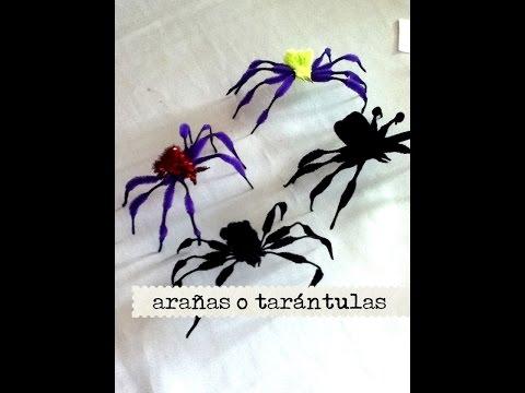 DIY Como hacer arañas tarántulas de limpia pipas tarantula spiders clean pipes