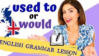 USED TO and WOULD | ENGLISH GRAMMAR | Talking about PAST actions and STATES
