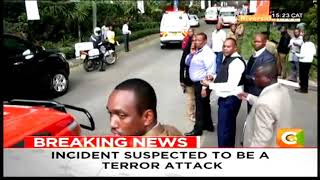 BREAKING NEWS: Two explosions, gunfire heard at a hotel and office complex in Nairobi