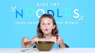 Kids Try Noodles from Around the World | Kids Try | HiHo Kids