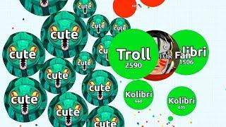 PRO TROLLING NOOB IN AGARIO #5 ( Agar.io Solo Gameplay )