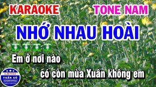 Karaoke Nhớ Nhau Hoài   Karaoke Nhạc Sống Tone Nam   Tuấn Cò