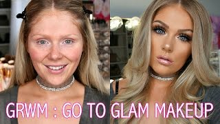 GET READY WITH ME | GO TO GLAM MAKEUP LOOK