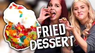 Deep Fried Ice Cream & Cookie Dough & Funfetti?!