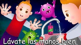 Lávate las manos bien Qué limpias estén | Canciones infantiles en Español | ChuChu TV