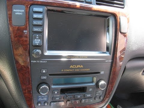 how to remove navigation dvd player from acura mdx 2004. Black Bedroom Furniture Sets. Home Design Ideas